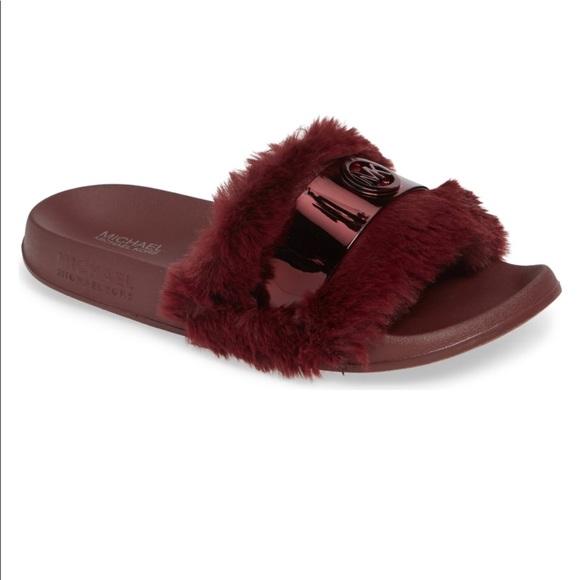 baa4545ea27f Mk Jett Faux Fur Slide ❣ ❣ ❣ . NWT. MICHAEL Michael Kors